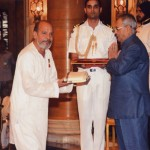 Receiving Sangeet Natak Academy Award at the hands of the President of India -2012