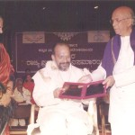 Receiving the Rajyotsava Award from the CM of Karnataka