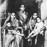 Young Rajshekhar on his Mother's lap (left), Aunt and sister (rt)
